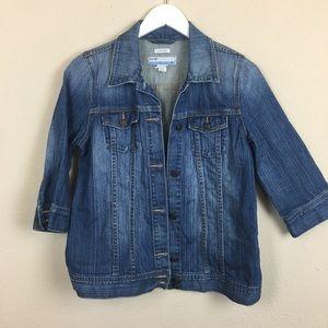 Old Navy Maternity Jean Jacket- 3/4 Sleeves
